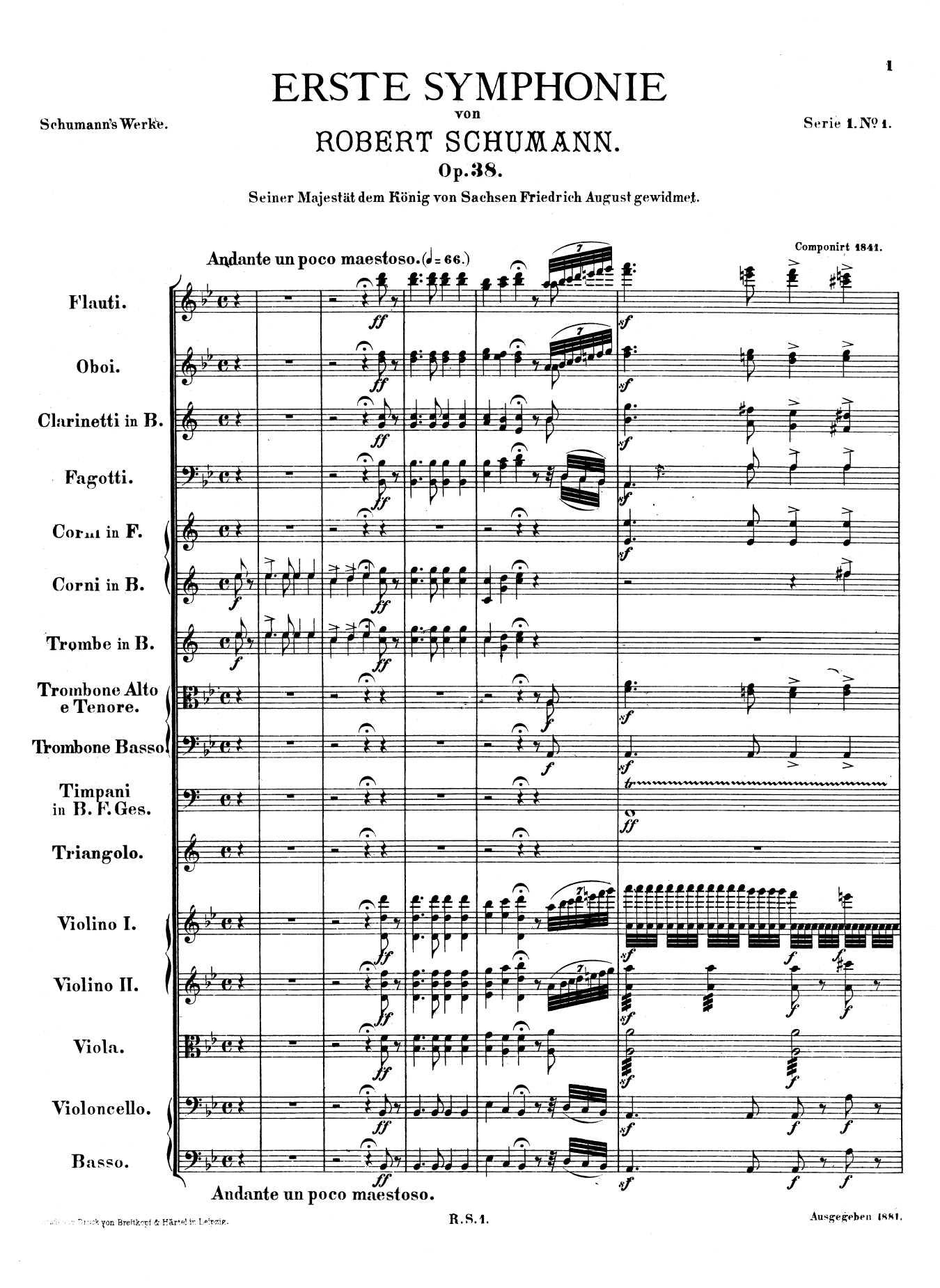 Schumann, op. 38