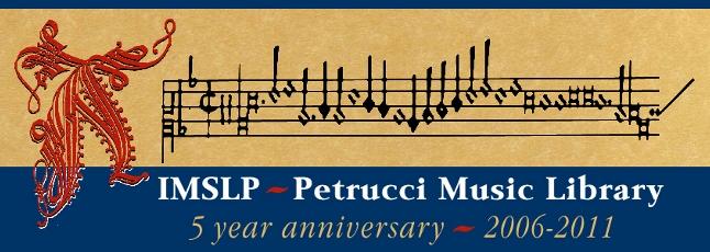 IMSLP: Biblioteca Internacional de Partituras Musicales
