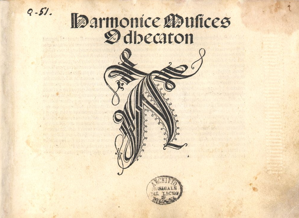 Cover page of Harmonice Musices Odhecaton