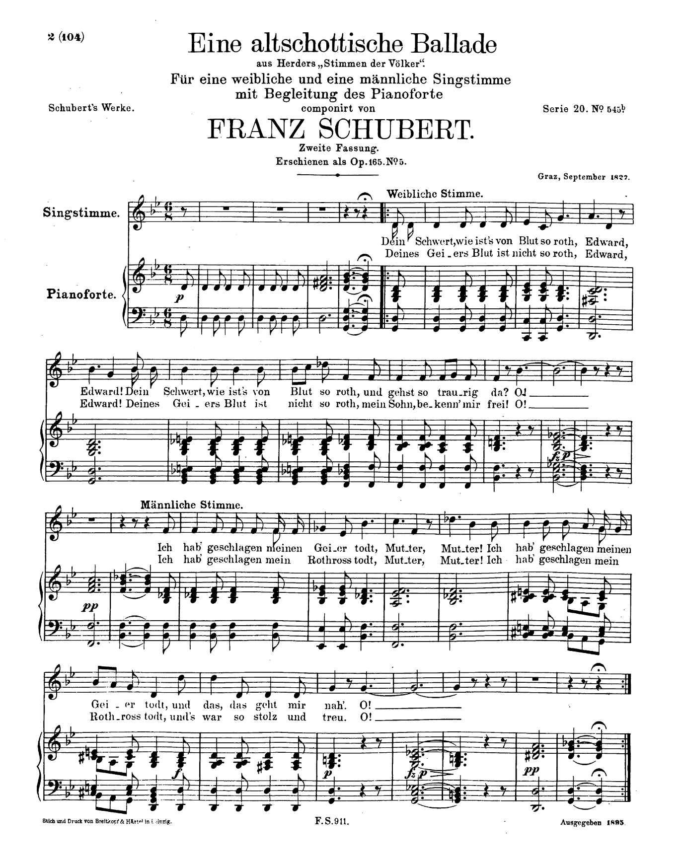 Schubert, D 923