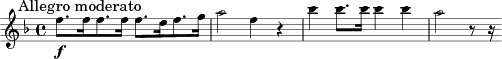 \relative c'' { \clef treble \key f \major \time 4/4  