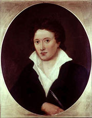 Percy Bysshe Shelley (1792–1822), 1819 portrait by Curran