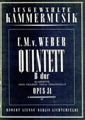 Weber - Clarinet Quintet in B flat major Op34 cover.jpg