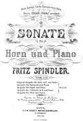 Spindler Fritz - Sonata for Horn and Piano 1884 cov.jpg