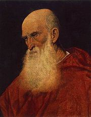 Pietro Cardinal Bembo (1470–1547), portrait by Titian (1545/46)