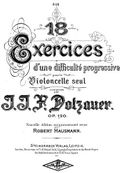 Dotzauer - 18 Excercices for the Cello Op120 cov.jpg