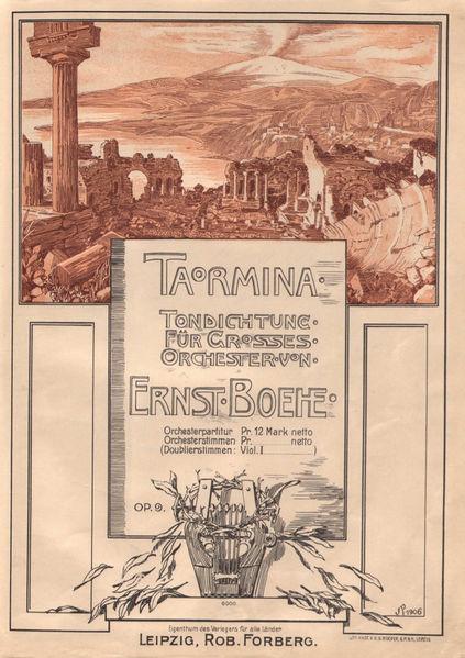 Boehe, Taormina, frontespizio