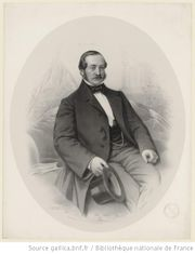 Andreas Henkel (1805–1871) in a lithograph by Émile DesMaisons, Paris, from BNF