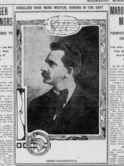 Henry Schoenefeld, newspaper picture 1906