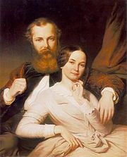 Mihály Mosonyi (1815–1870) and his wife (1840s)