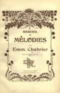 Chabrier Melodies cover.png