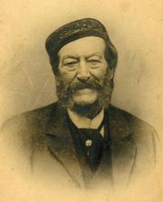 Scan of a sepia photograph, ca.1893, of a gentleman believed to be Harry Drew