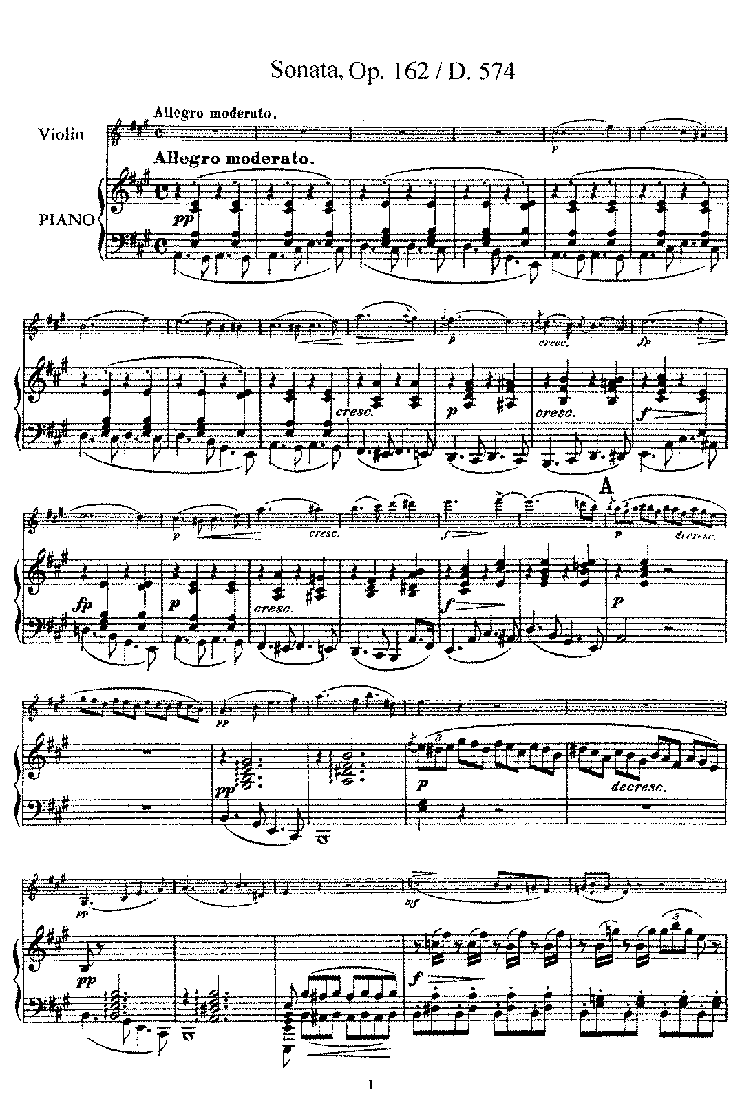 Schubert - D.574 - Violin Sonata in A Major (Op.162).pdf