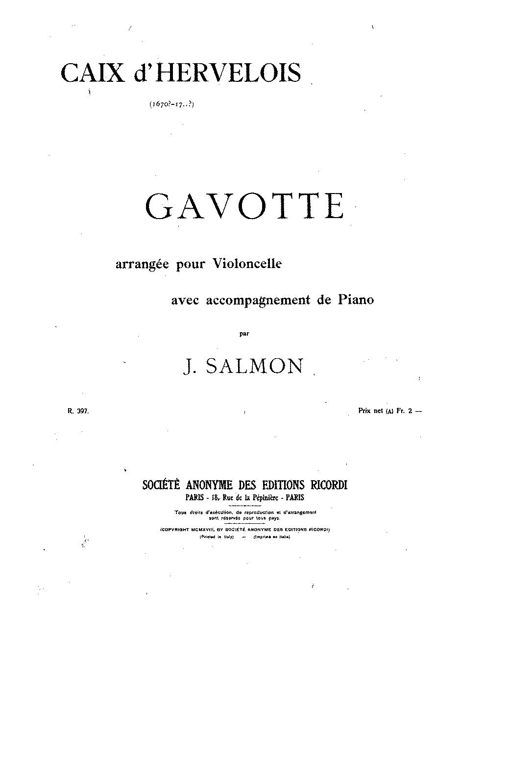 PMLP131706-Caix d'Hervelois - Gavotte in A minor (Salmon) for cello and piano pno.pdf