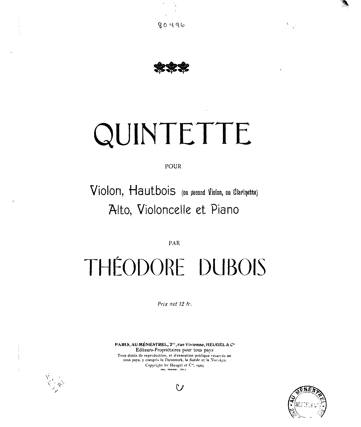 Dubois - Quintette for Violin, Oboe, Viola, Cello, Piano (score & parts).pdf