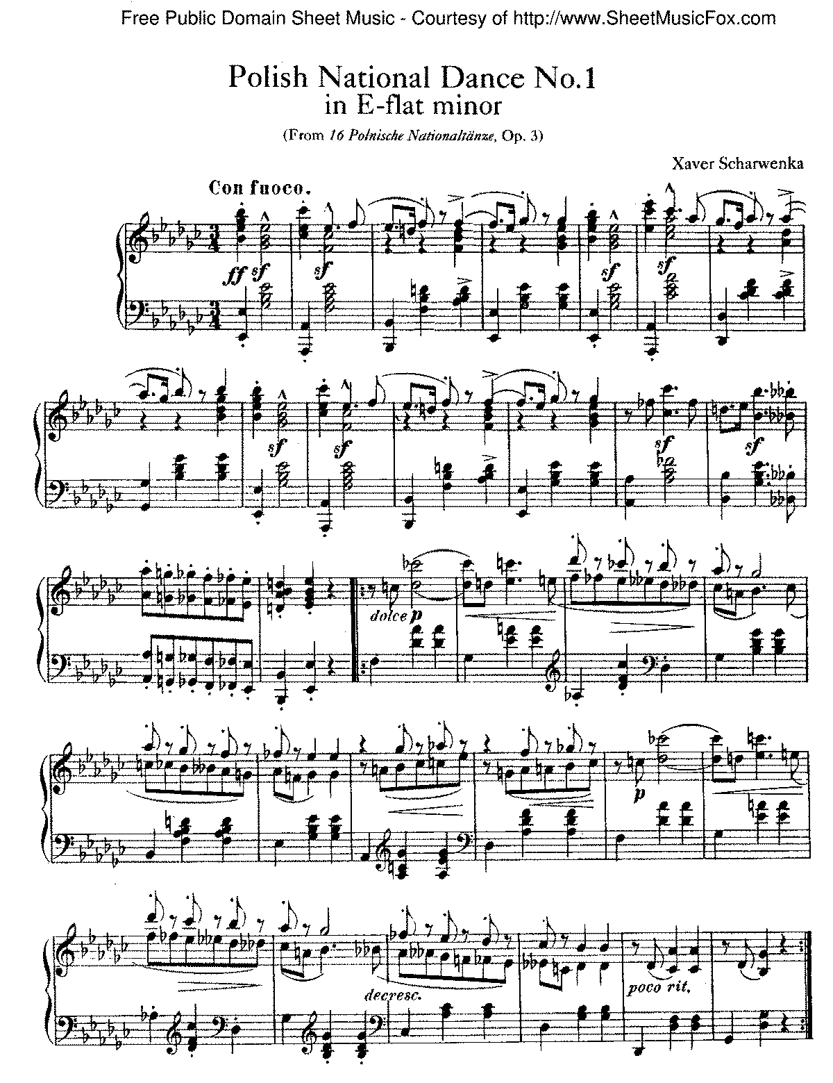 Scharwenka - 16 Polish Dances, Op.3 - No.1.pdf