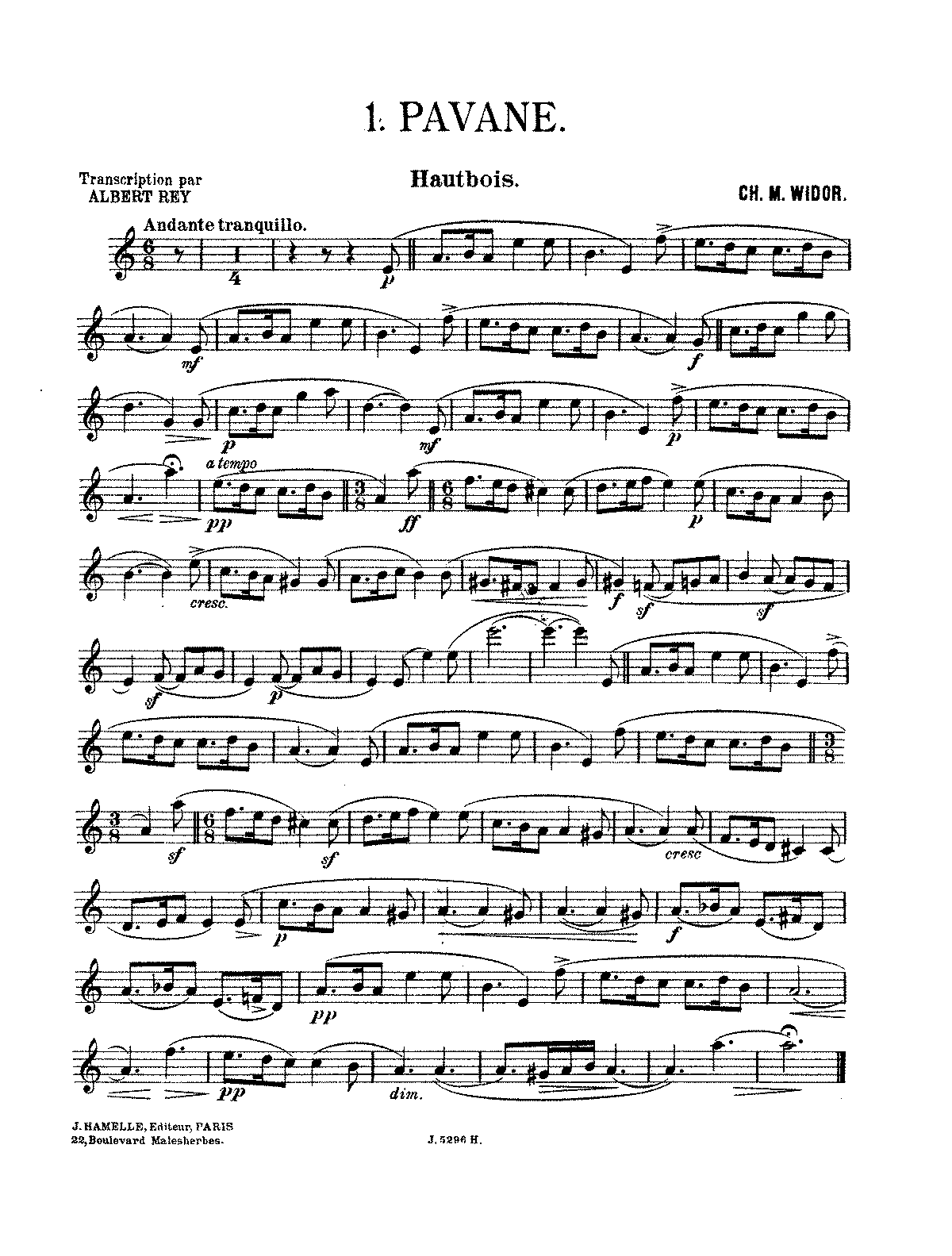 PMLP108454-Widor - 3 pièces - I. Pavane (oboe and piano).pdf