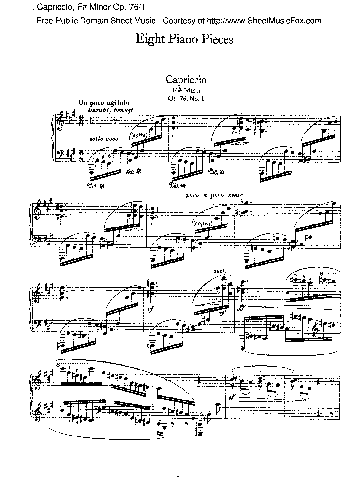 Brahms - Capriccio, F- Minor, Op.76 No.1.pdf