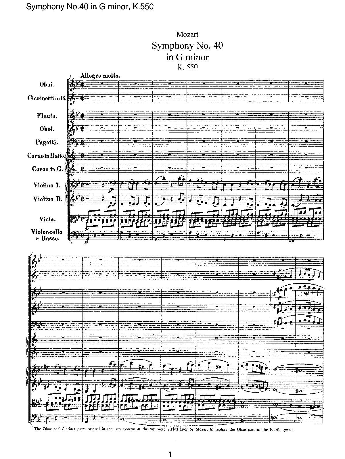 Mozart - Symphony No 40 in G minor, K550.pdf