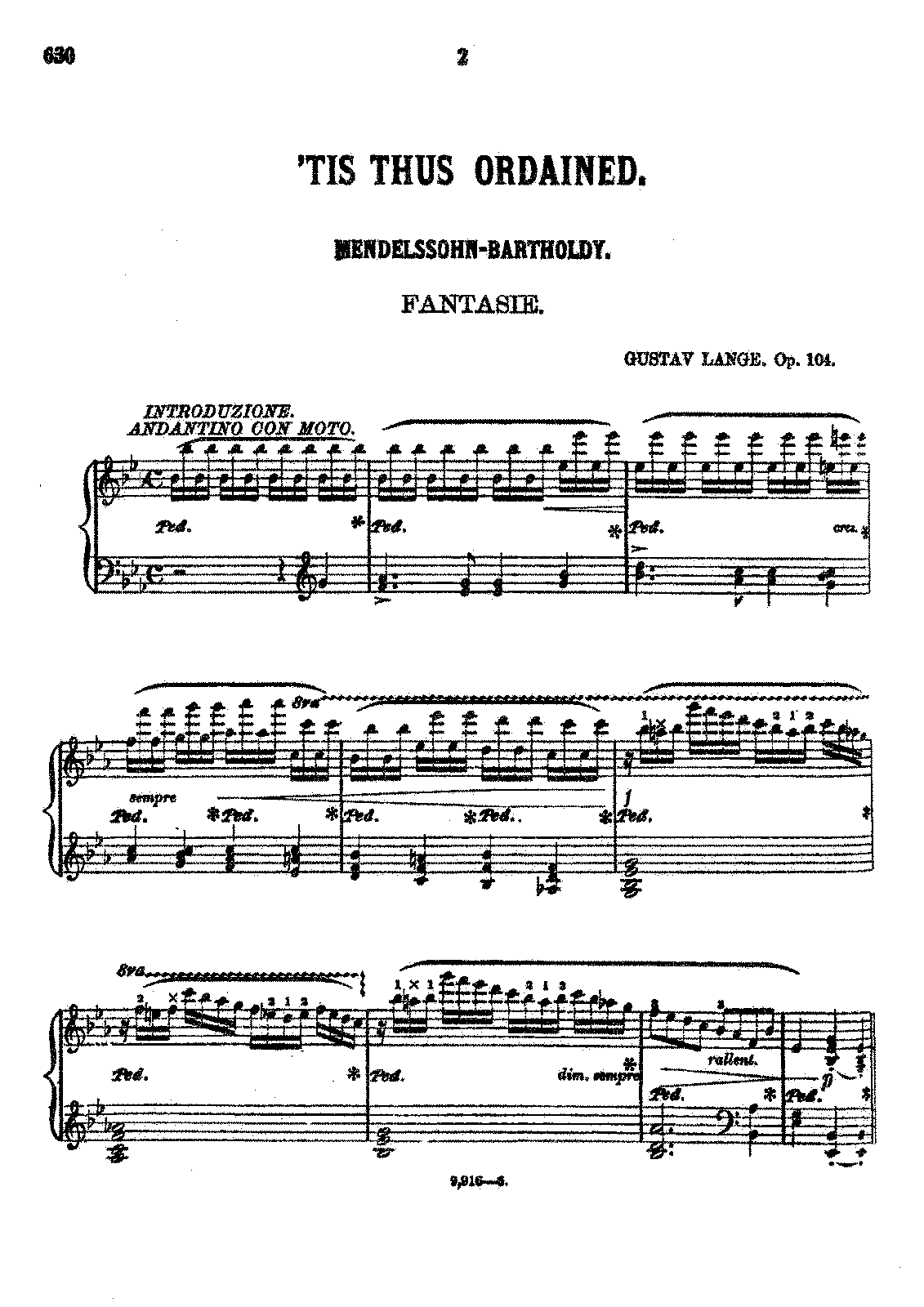 PMLP346563-Lange - 104 Fantasie on Mendelssohn's 'Tis thus ordained op 104 - Extracted from Cluster of Gems - Oliver Ditson - 1877.pdf