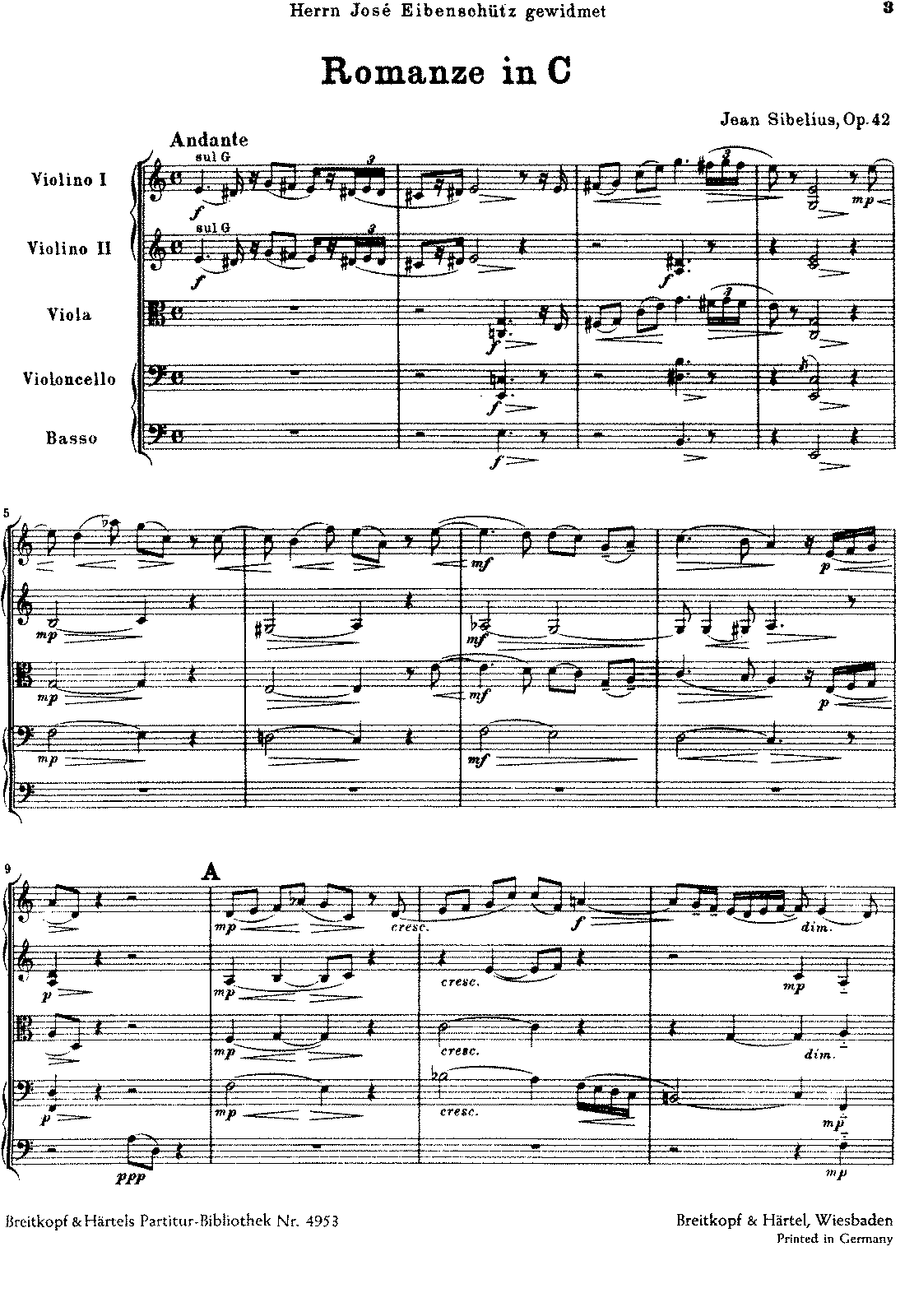 Sibelius - Romance in C for strings, Op.42 (orch. score).pdf