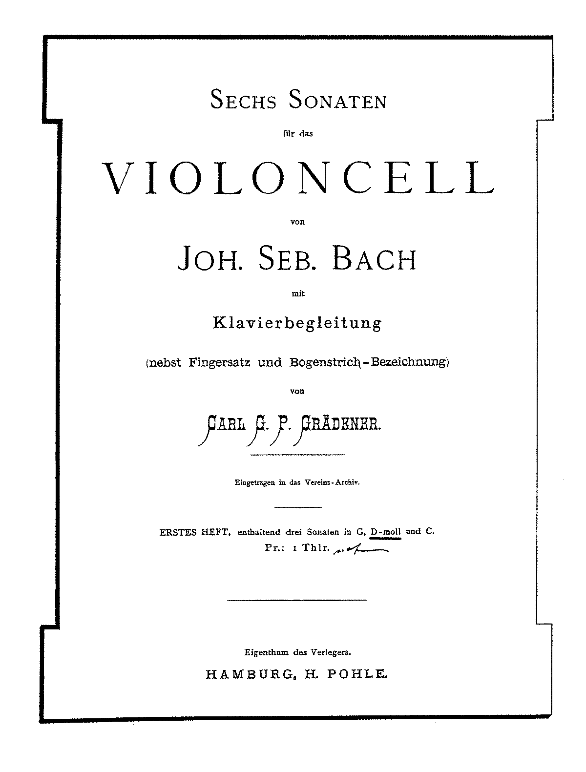 PMLP164350-Bach - Suite Vc-Pno 5 Suite No2 (Gradener Pohle 1871) for cello and piano parts.pdf