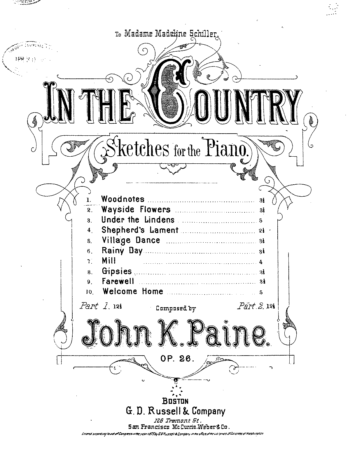 Paine - In The Country, Op.26 - No.1, Woodnotes.pdf