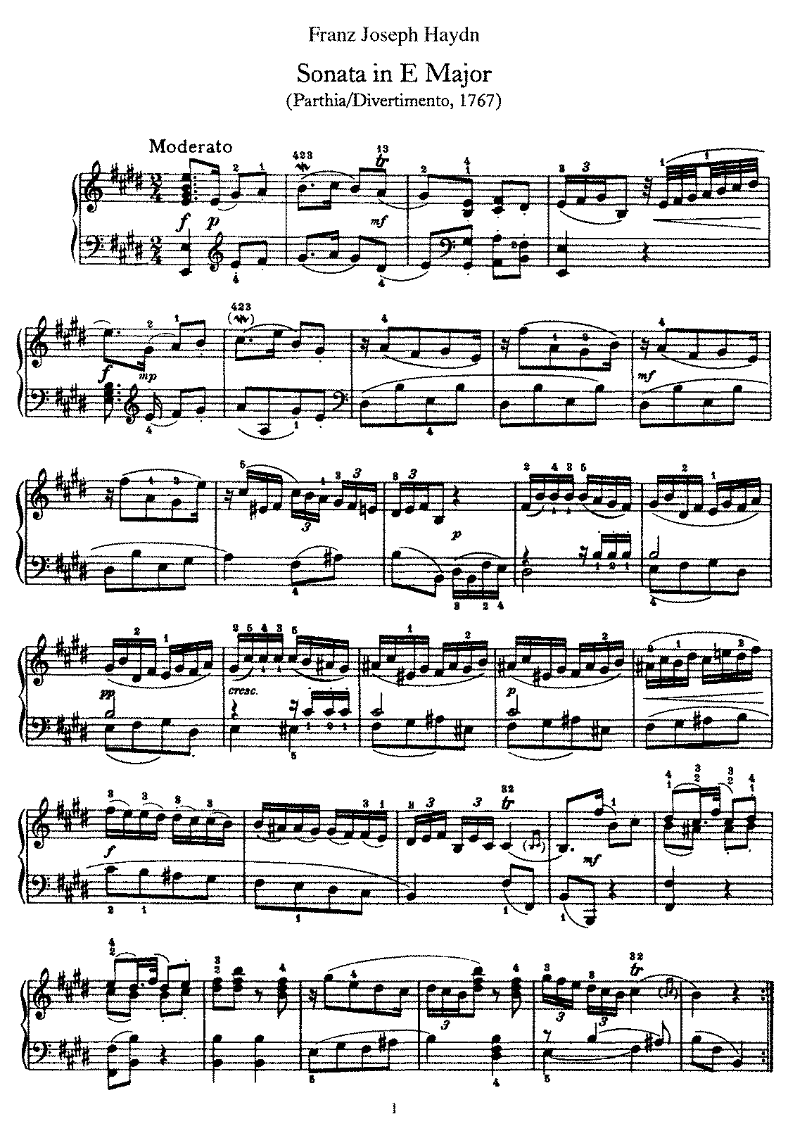 Haydn - Piano Sonata No 13 in E.pdf