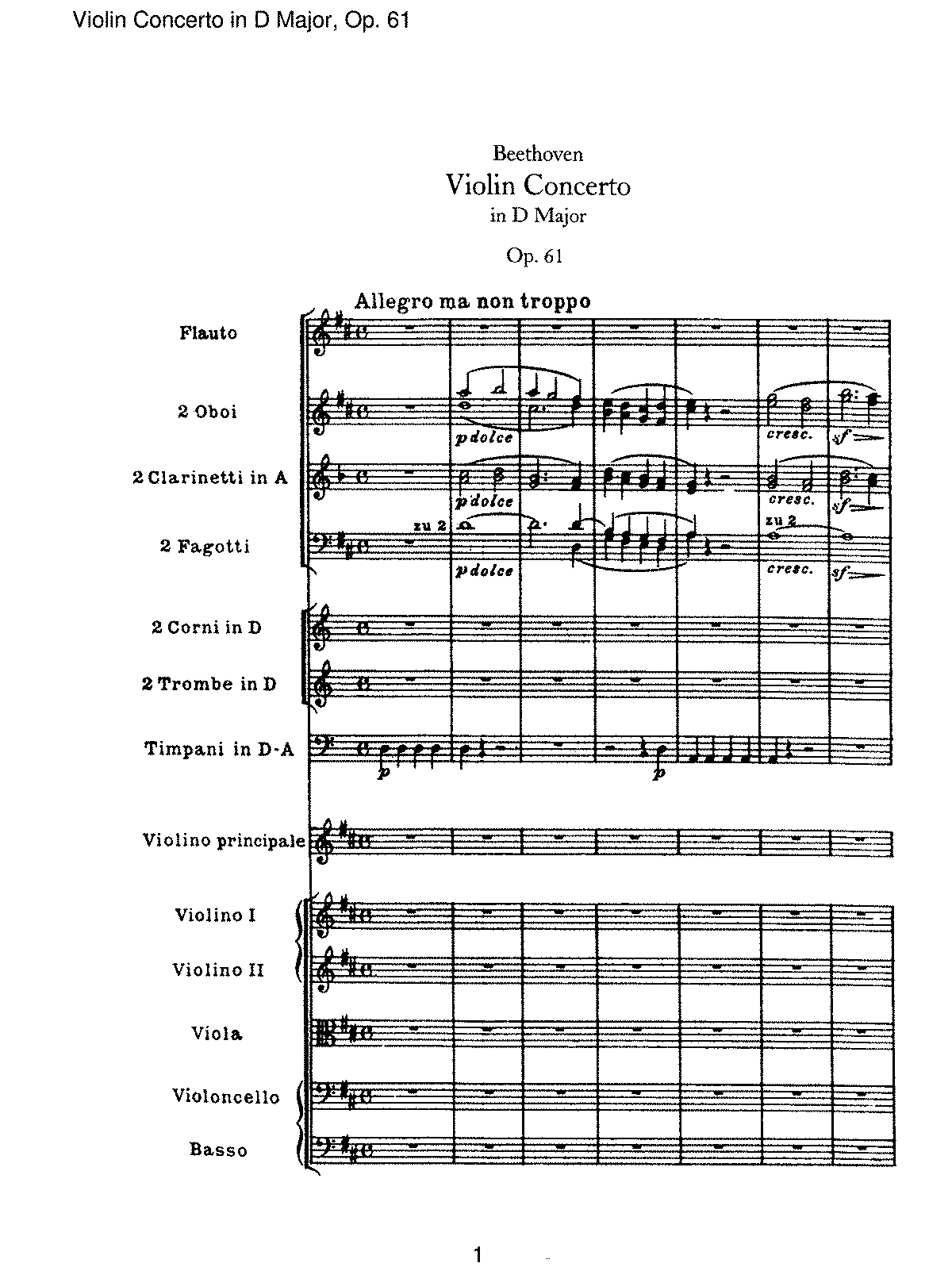 Beethoven - Violin Concerto in D Major, Op 61 - I - Allegro ma non troppo.pdf