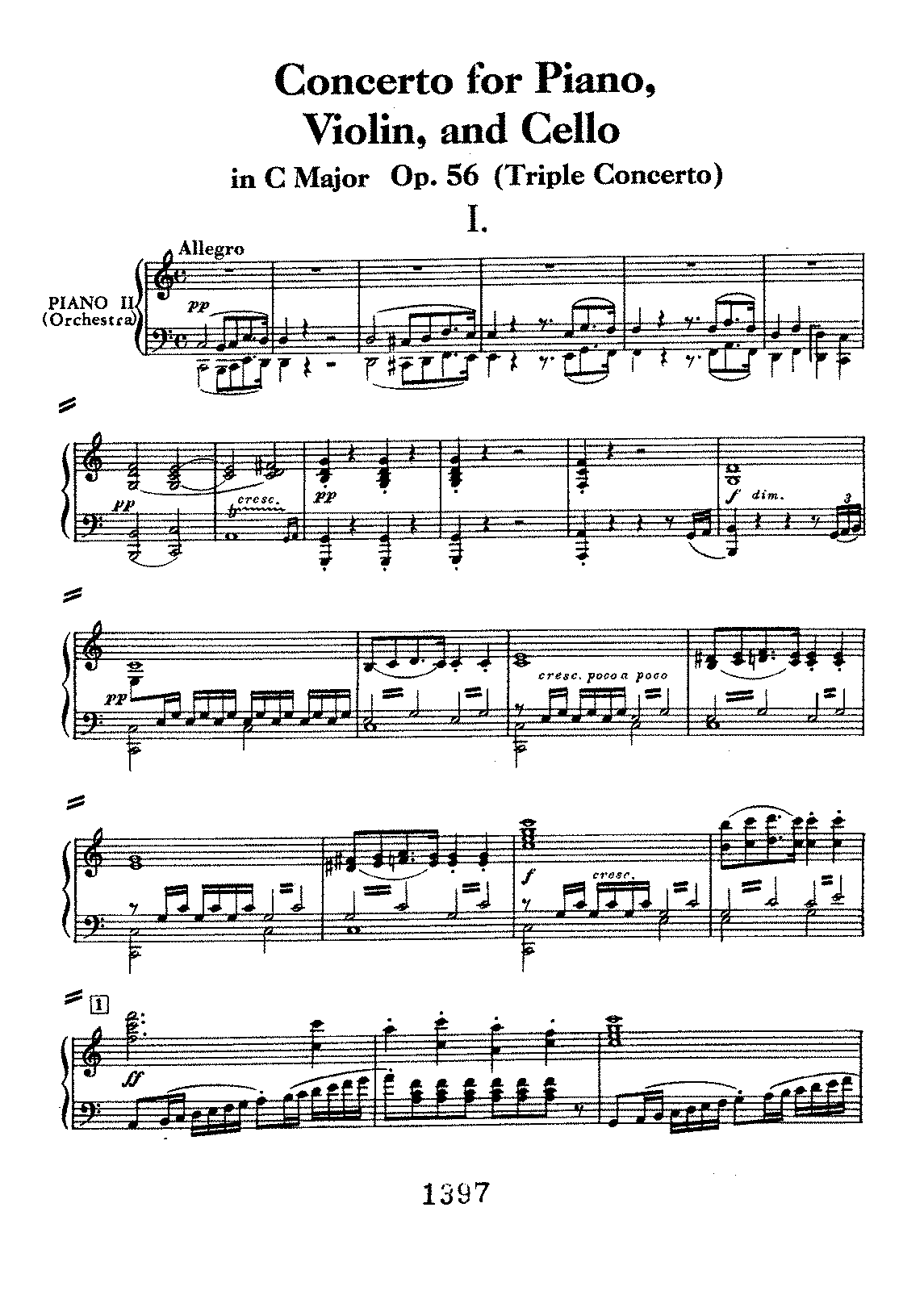 Beethoven - Triple Concerto in C major, op. 56 (2 Pianos, Violin & Cello).pdf