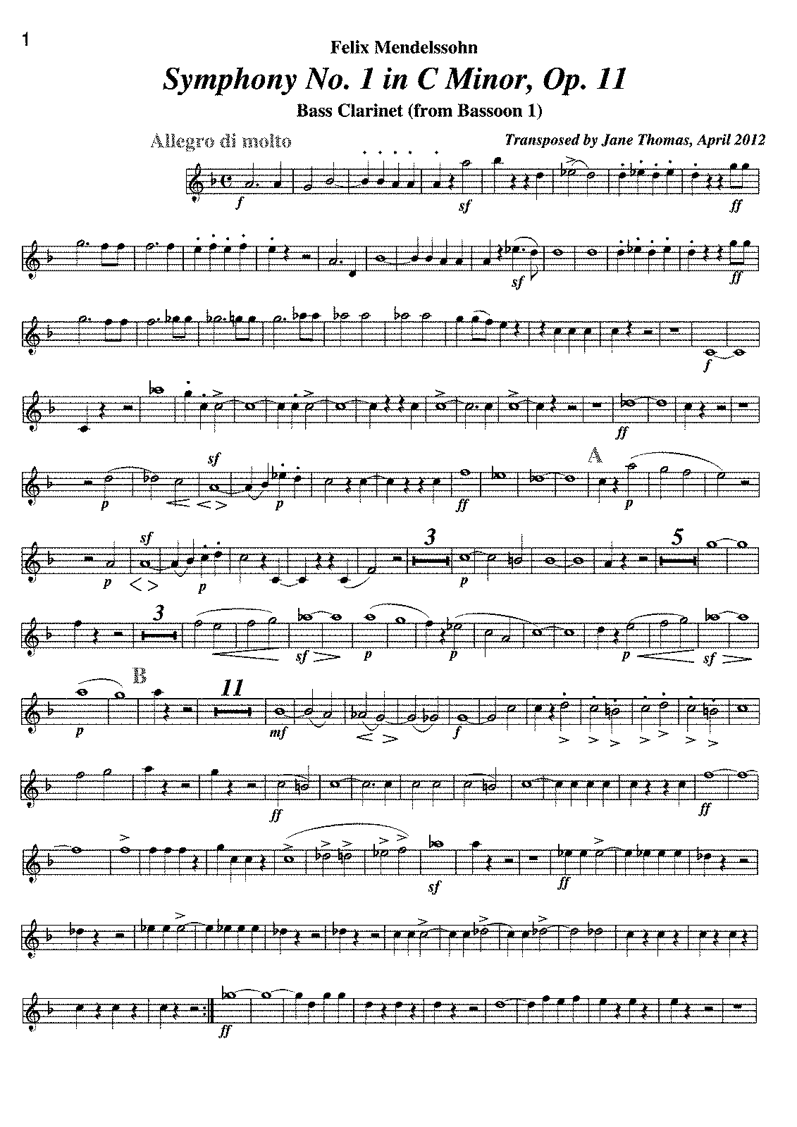 PMLP18966-Mendelssohn-Symphony No. 1. Bassoon transposed for Bass Clarinet.pdf