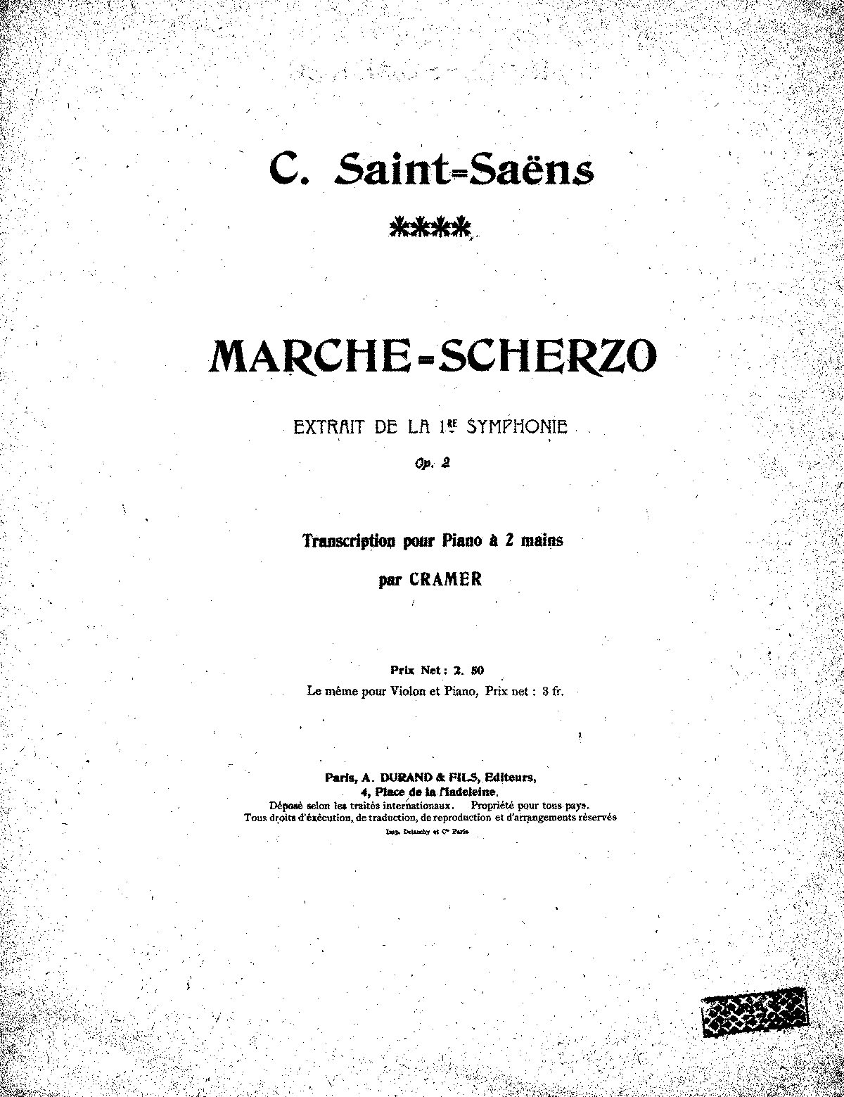 PMLP49221-Saint-Saëns March-Scherzo from Symphony No1 Op2 (2H Cramer).pdf