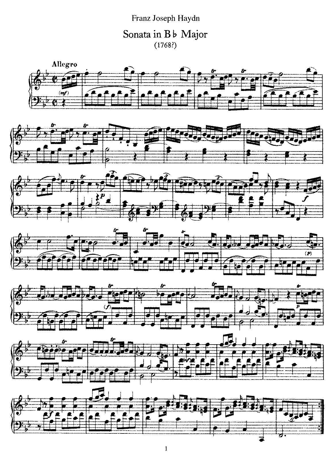 Haydn - Piano Sonata No 17 in Bb.pdf