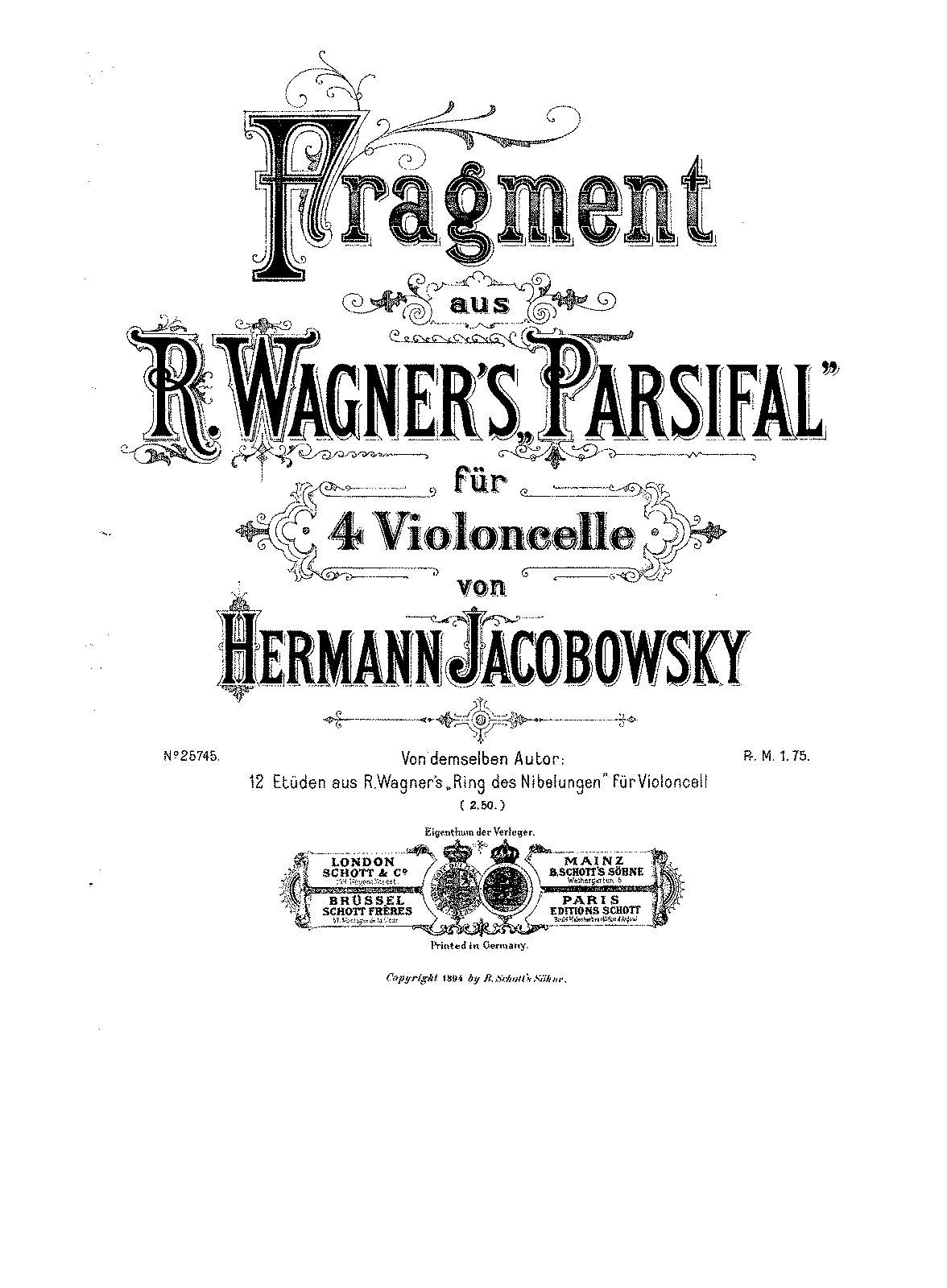 PMLP05713-Wagner - Fragment from Parsifal for 4 Cellos (Jacobowsky) cello1.pdf