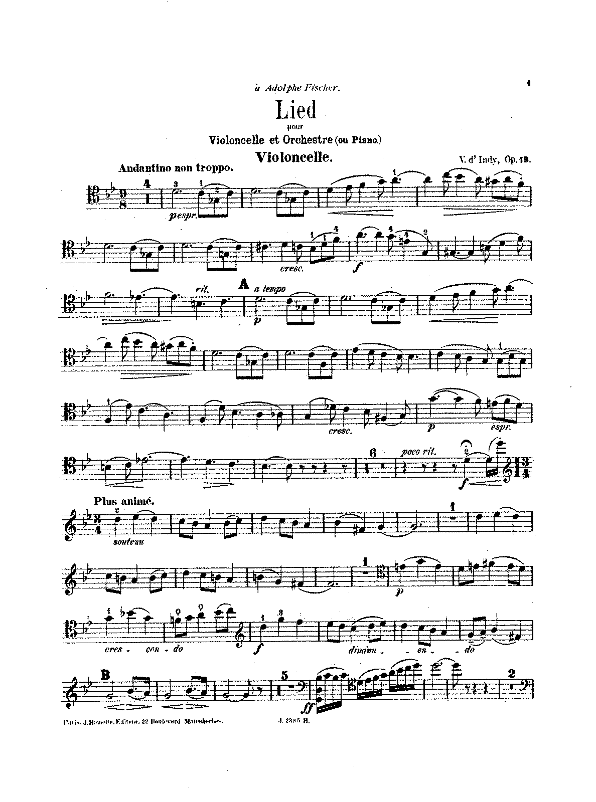 D'indy - Lied for Cello and Orchestra, Op. 19 (red. Cello and Piano).pdf