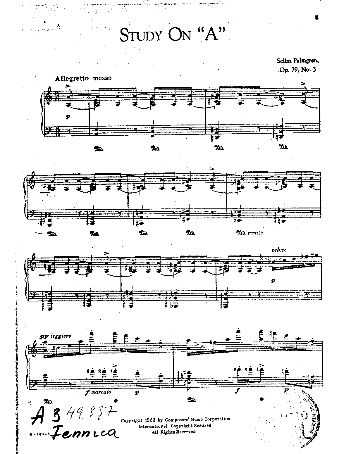 Palmgren - Op.79 no.3 - Study on A.pdf