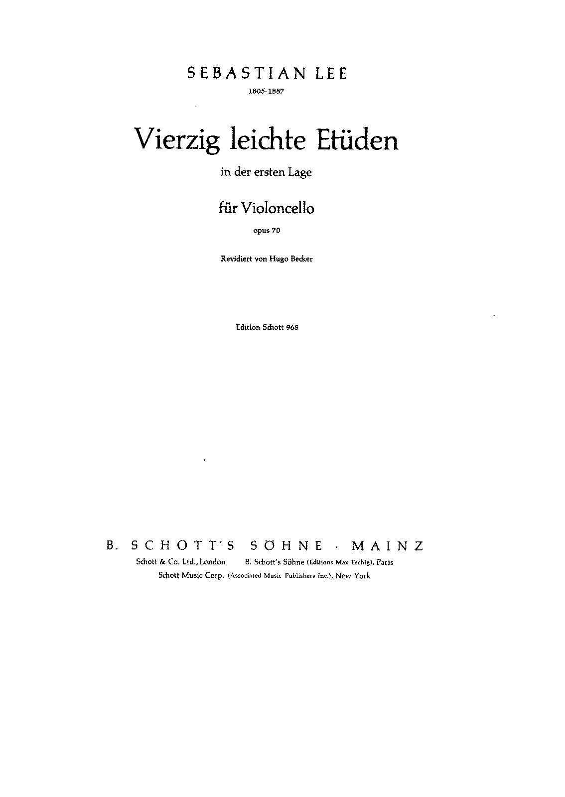 PMLP384191-Lee - 40 leichte Etuden (Easy Etudes) for Cello Op70 (Becker).pdf