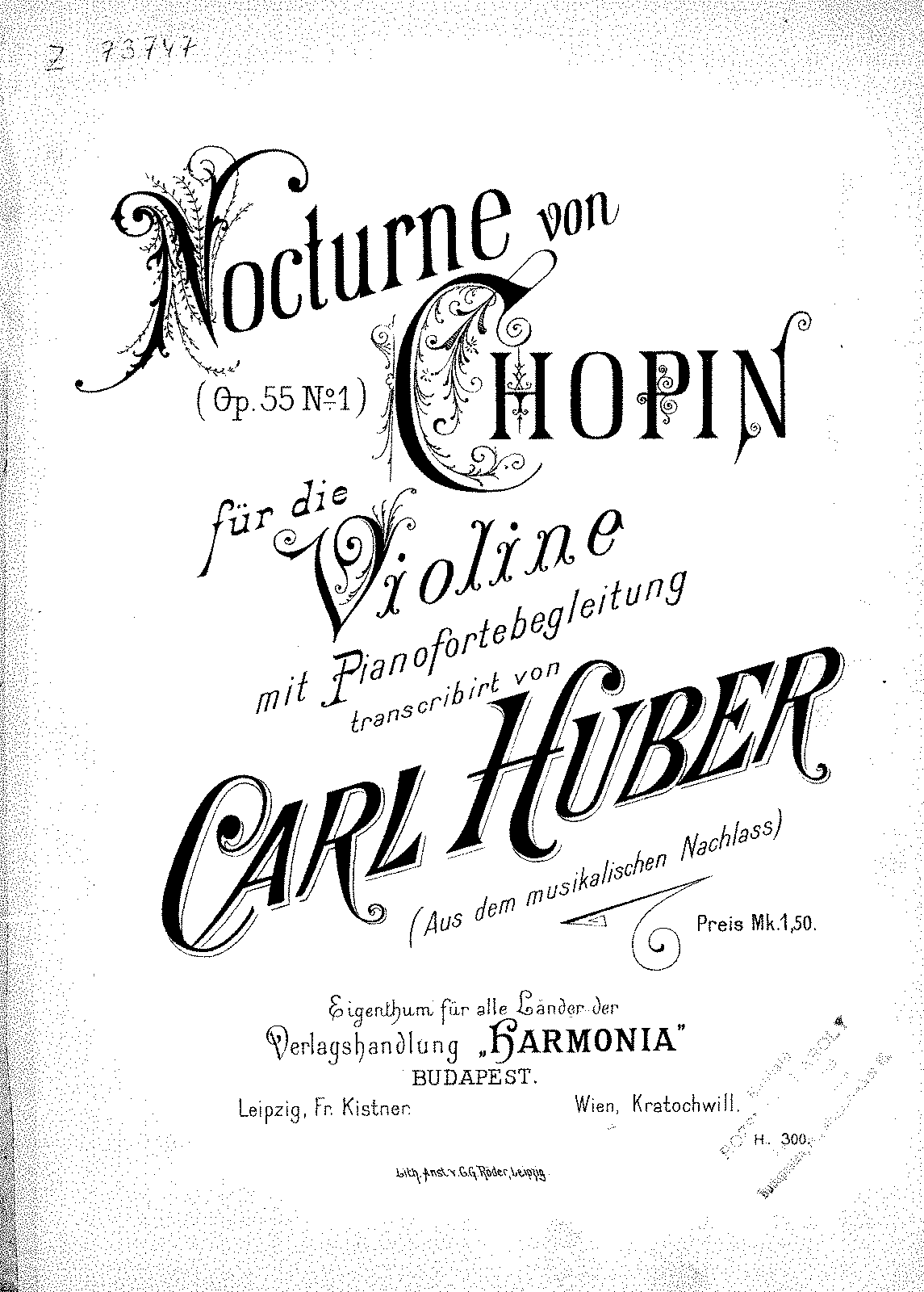 Huber - Variation of Chopin's Nocturne Op.55 No.1 (for violin and piano).pdf