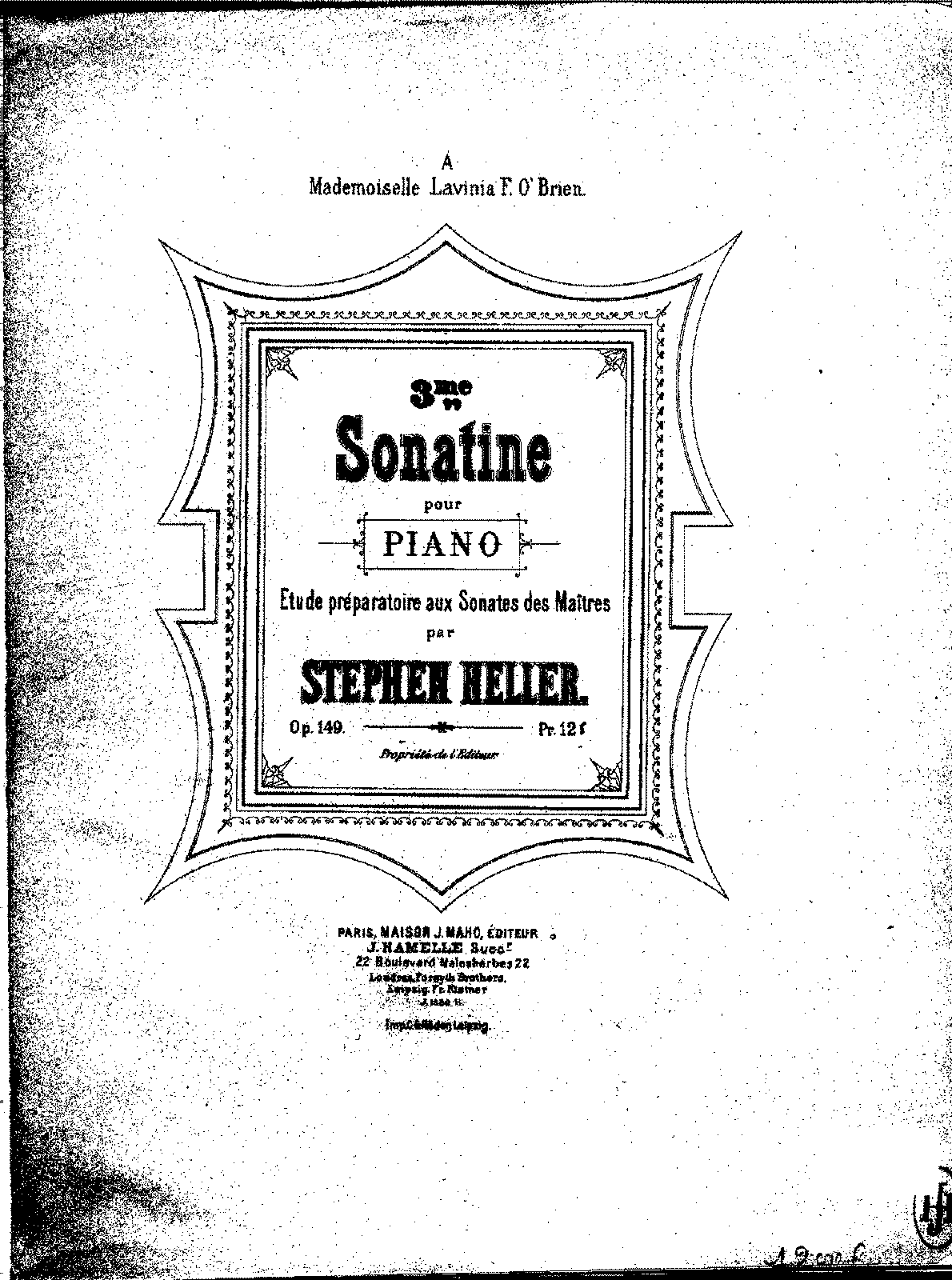 Heller - Op.149 - Sonatine No.3 in D minor.pdf