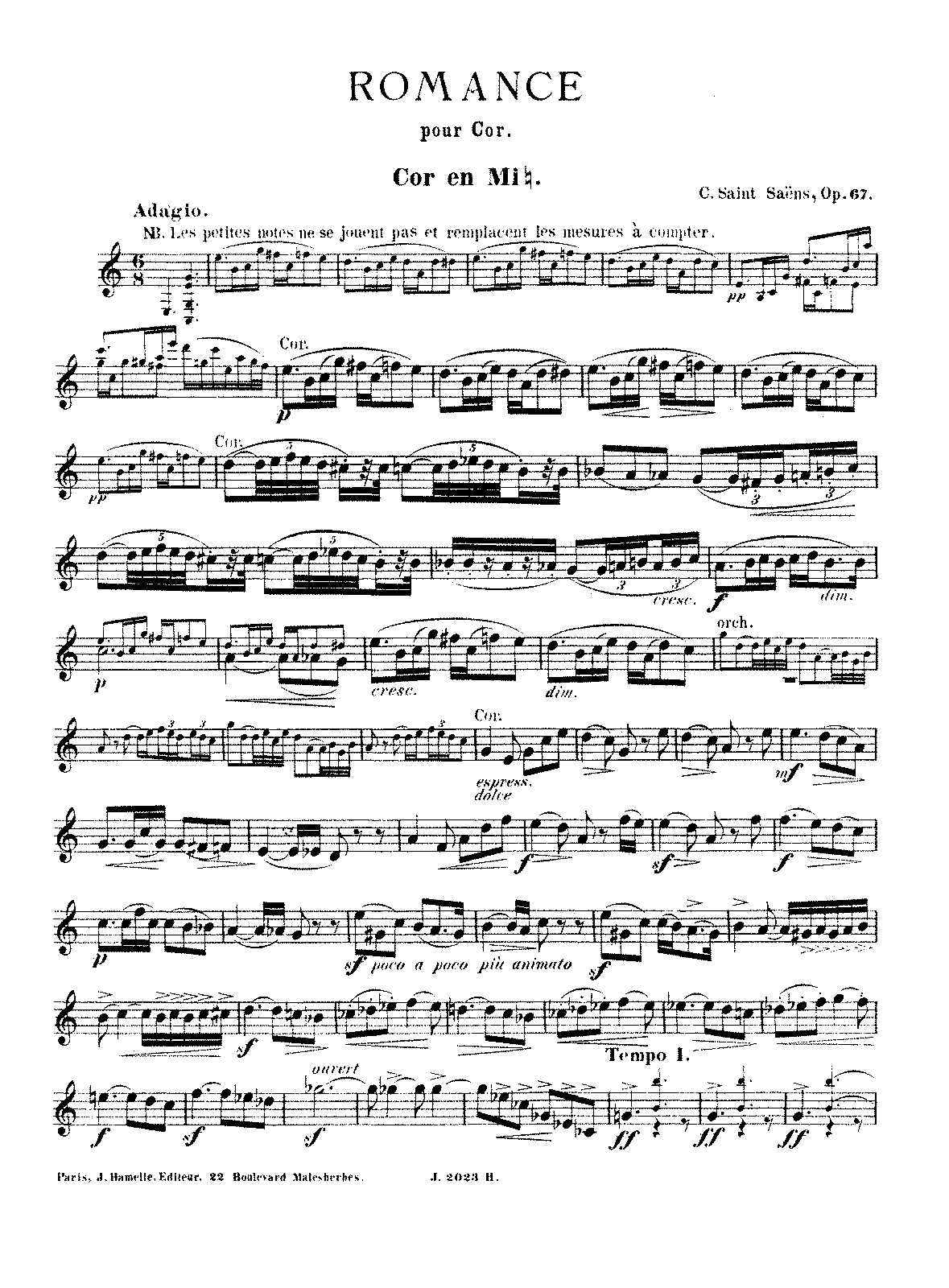 PMLP69039-Saint-Saëns - Romance, Op. 67 (horn and piano).pdf