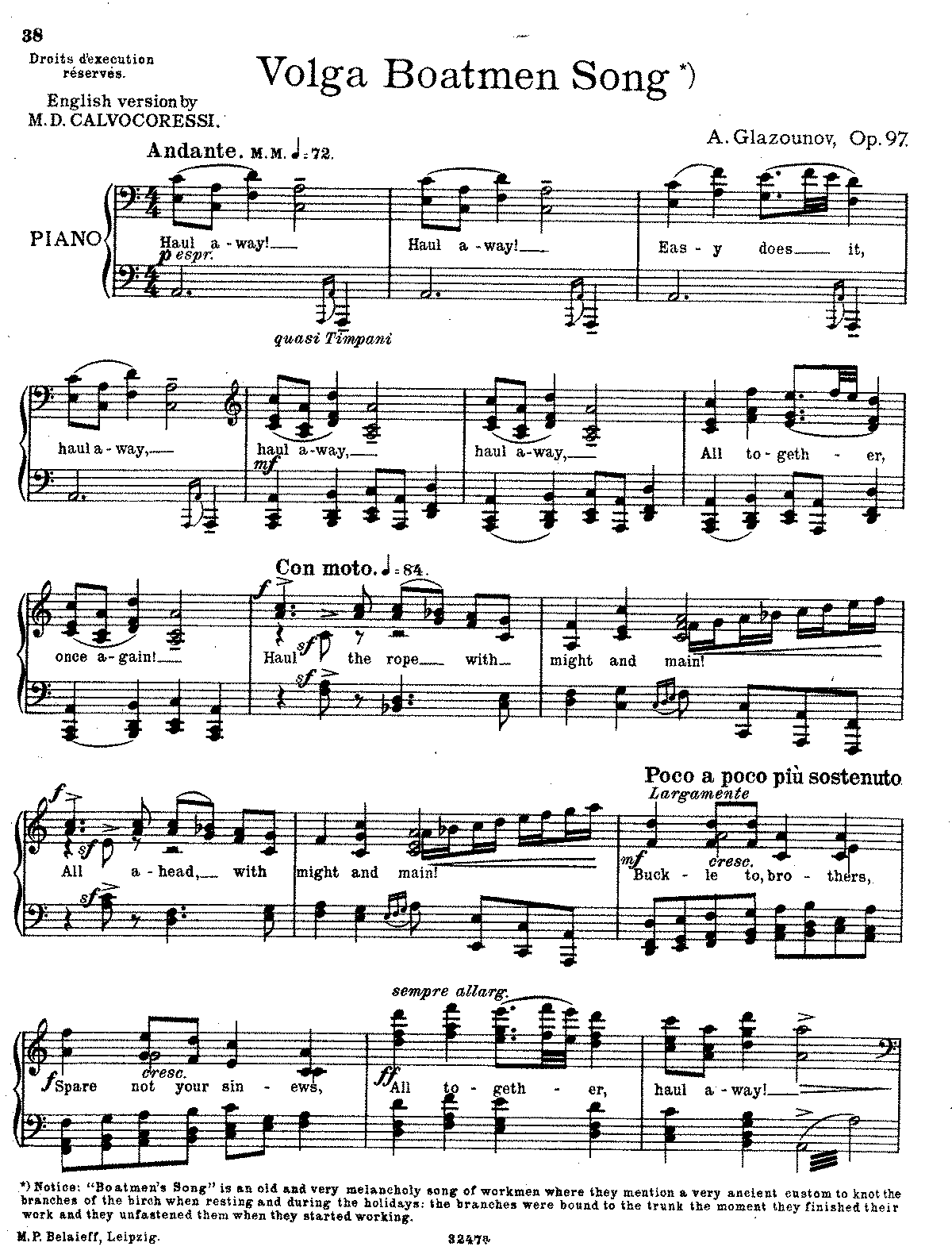 Glazunov - Op.97 - Song of the Volga Boatmen.pdf