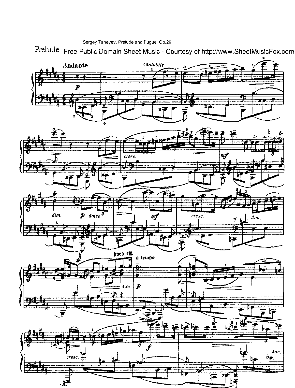 Taneyev - Prelude and Fugue, Op.29.pdf
