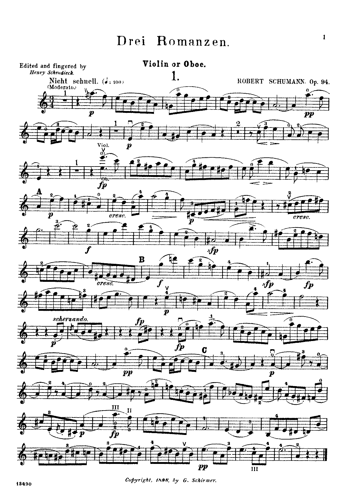 Schumann - 3 Romances, Op. 94 (oboe and piano).pdf