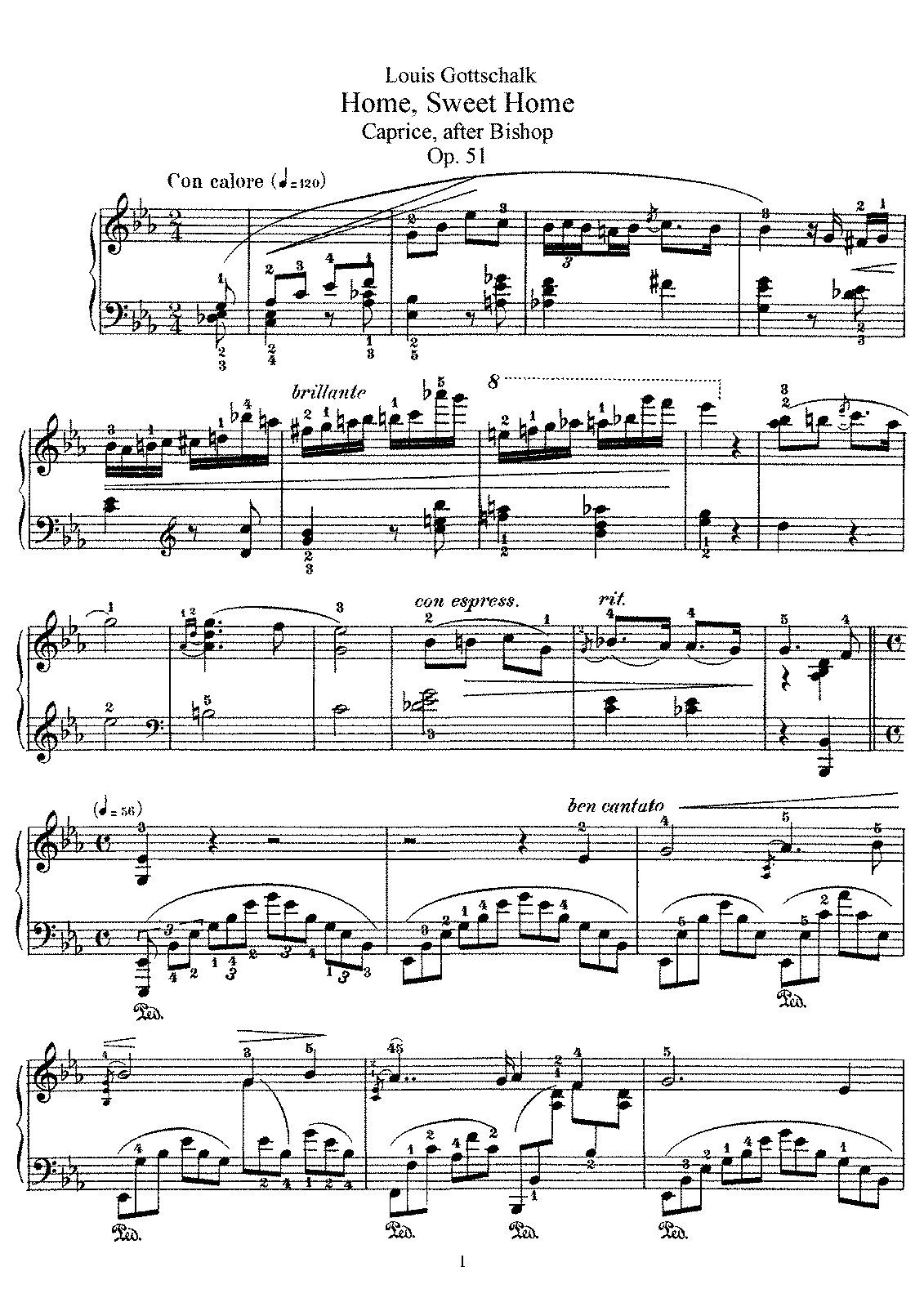 Gottschalk - Op.51 - Home Sweet Home, Caprice After Bishop.pdf