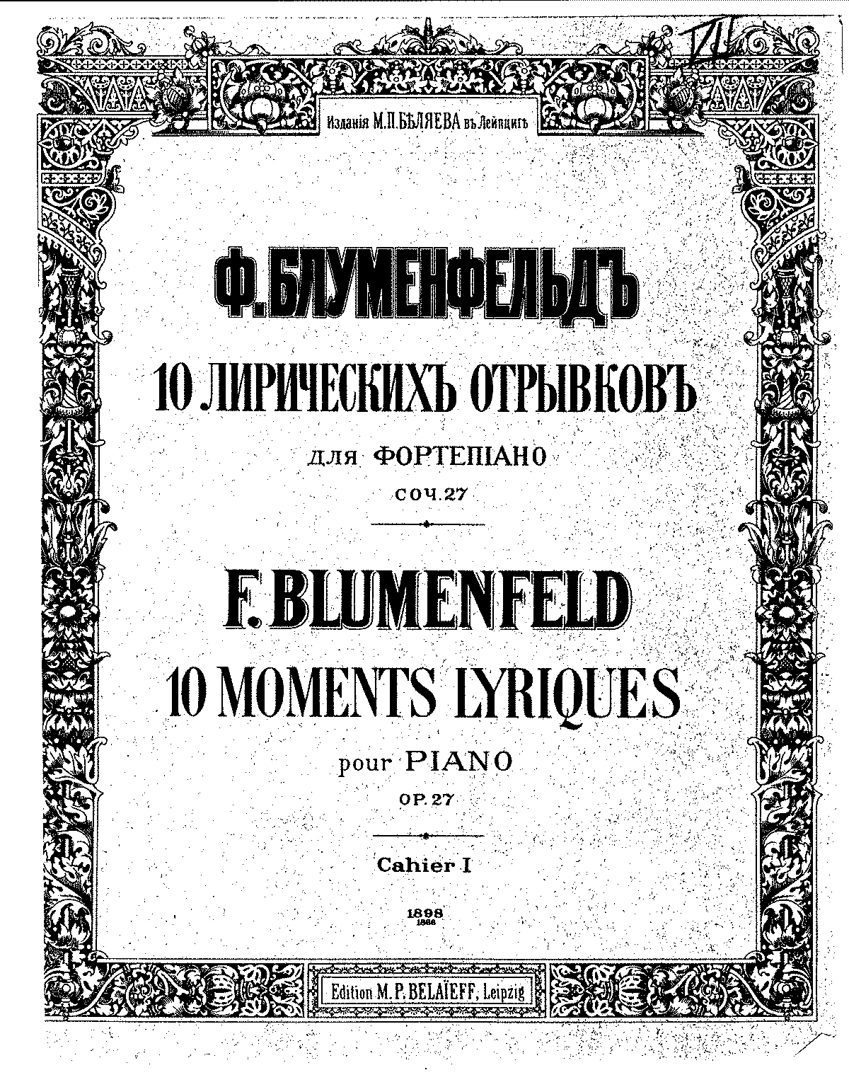 Blumenfeld - Op.27 - 10 Moments Lyriques.pdf