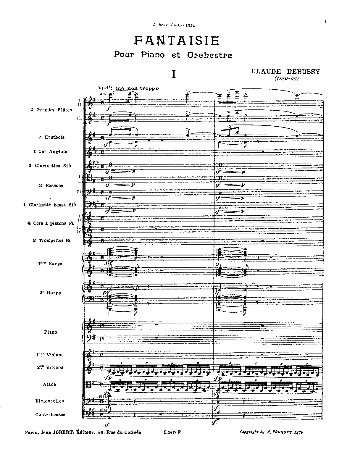 Debussy - Fantaisie for piano and orchestra (orch. score).pdf
