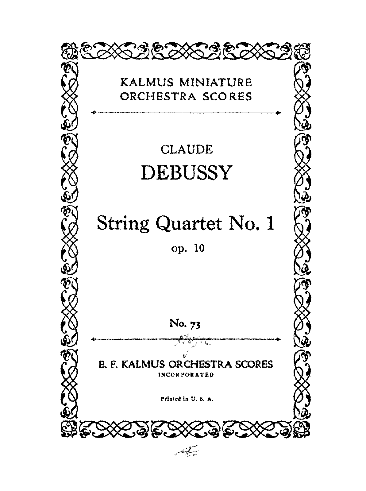 Debussy - String Quartet No.1.pdf
