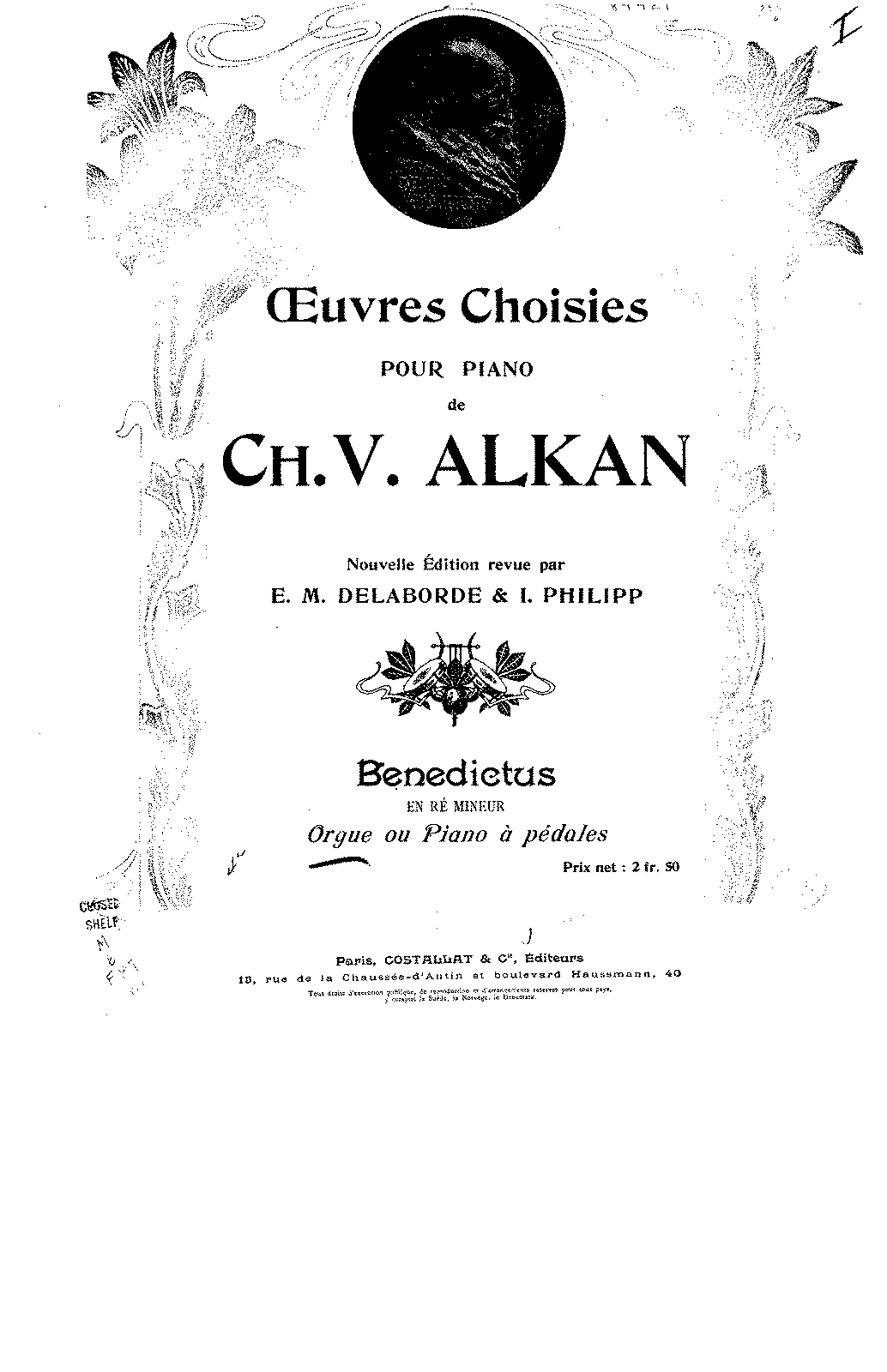 Alkan - Benedictus in D minor, Op.54.pdf