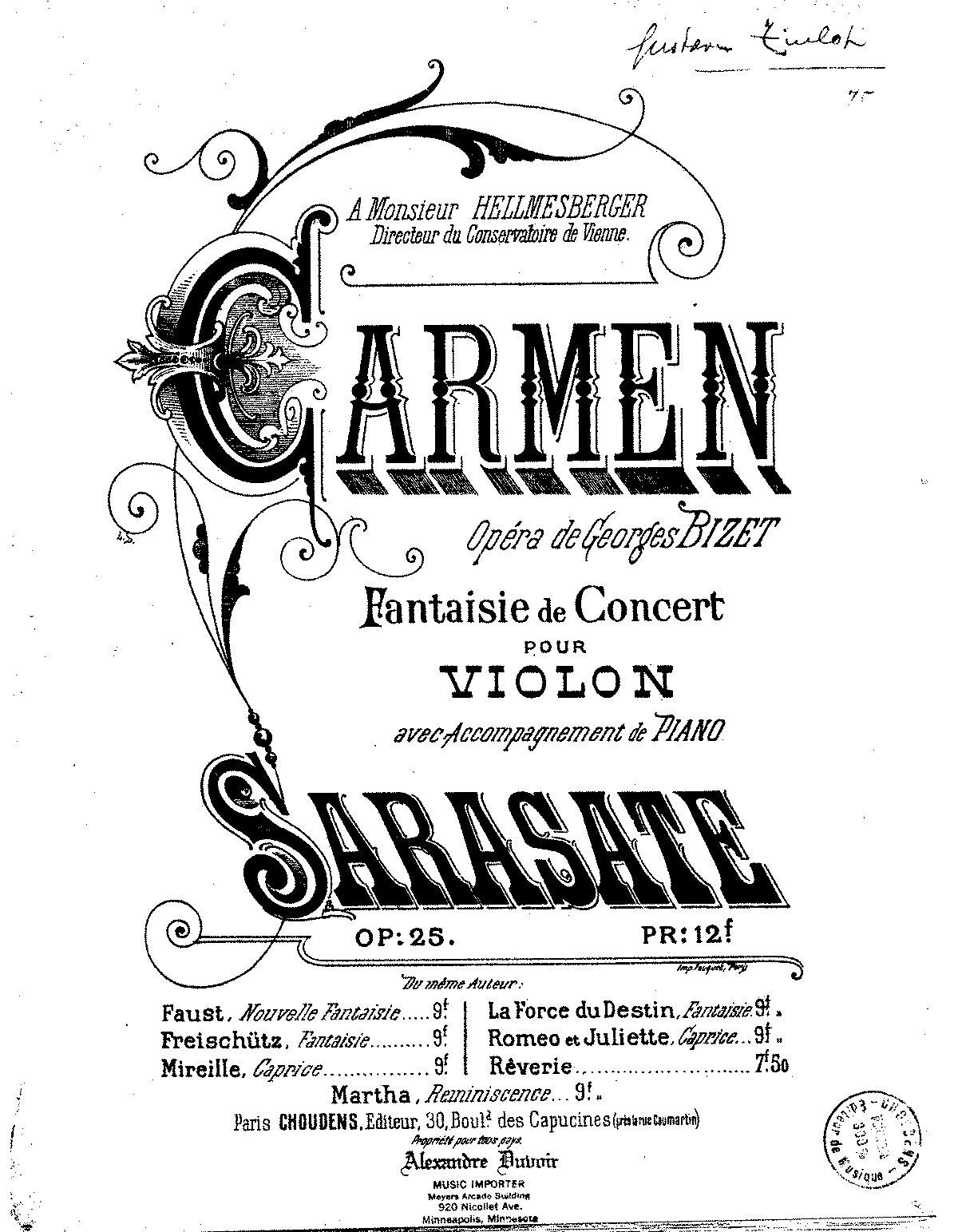 PMLP10681-Sarasate - Carmen Fantaisie from Opera by Bizet Op25 for Violin and Piano pno.pdf