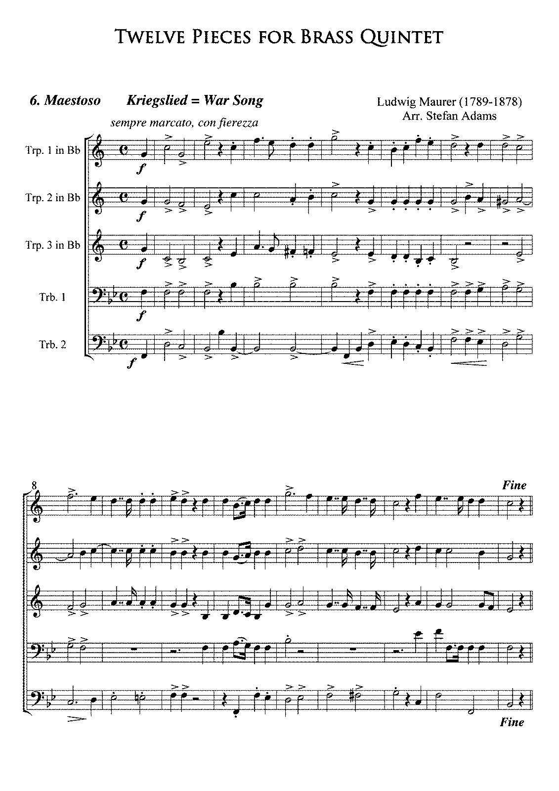 PMLP185891-Maurer Nr6 Kriegslied Brass Full Score and parts TrpBb.pdf